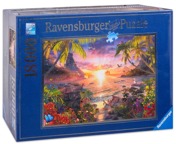 Пъзел Ravensburger от 18 000 части - Залез в рая