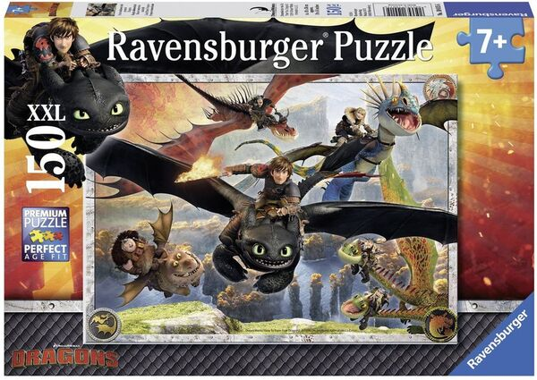 Пъзел Ravensburger от 150 XXL части - Как да си дресираш дракон