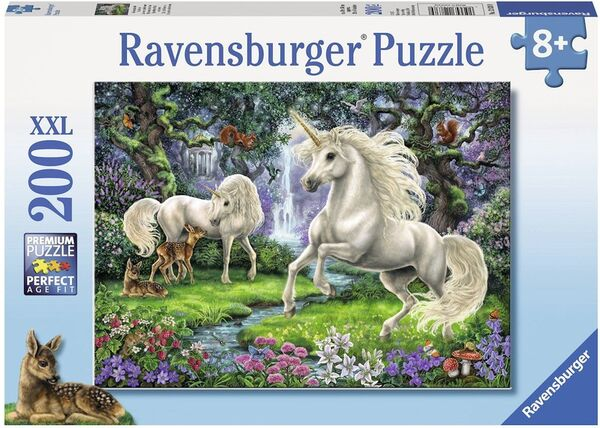 Пъзел Ravensburger от 200 XXL части - Мистични еднорози