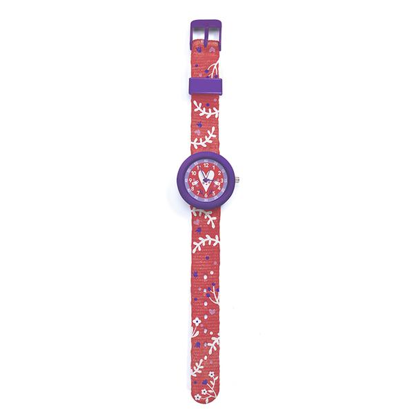 Часовник Djeco - Montre Heart, устойчив на пръски, розов