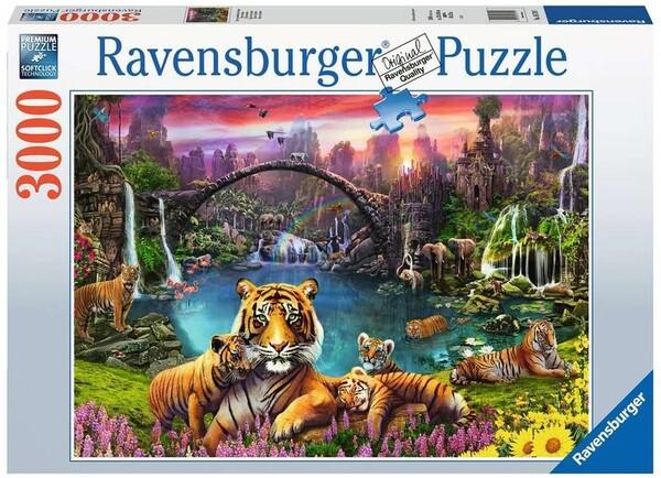 Пъзел Ravensburger от 3000 части - Тигър в рая