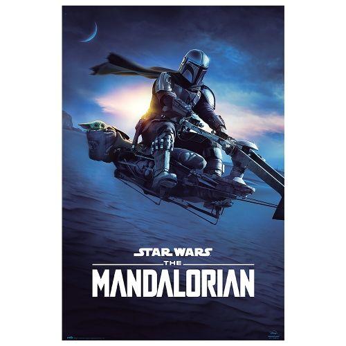Постер The Mandalorian - Mando Speeder Bike II