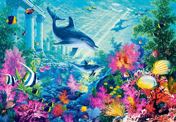 Пъзел Castorland от 1000 части - Подводни приключения