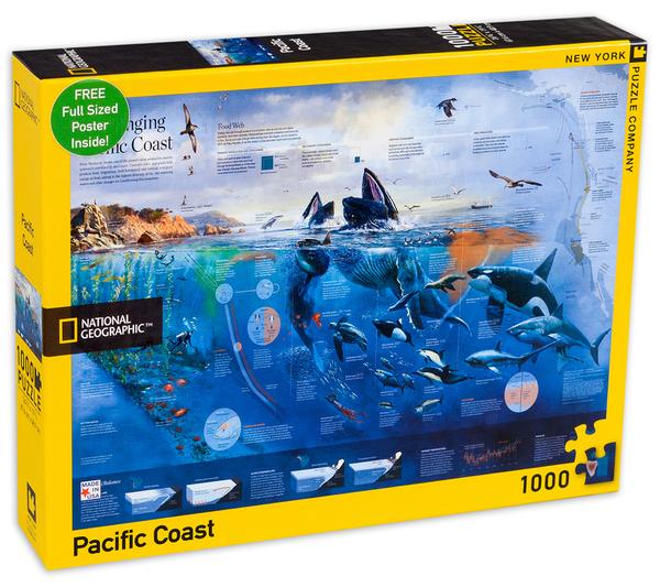 Пъзел New York Puzzle от 1000 части - Тихоокеанско крайбрежие