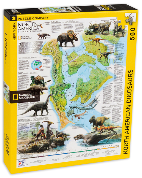 Пъзел New York Puzzle от 500 части - Динозаври, Северна Америка