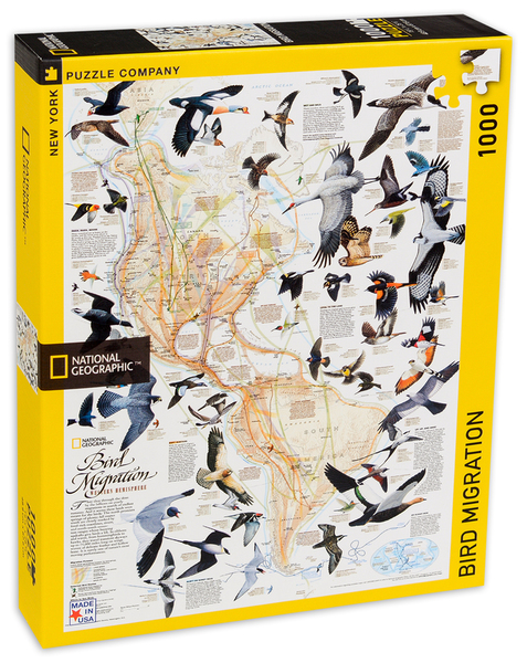 Пъзел New York Puzzle от 1000 части - Миграцията на птиците