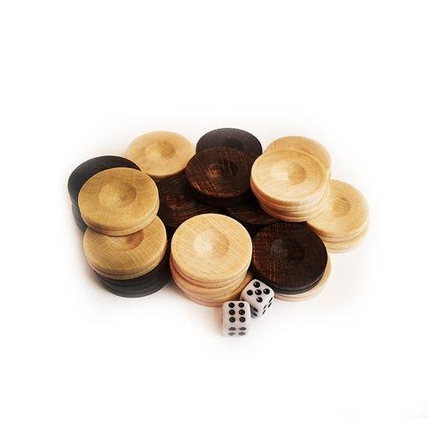 Дървени пулове за табла,бук, 23 мм