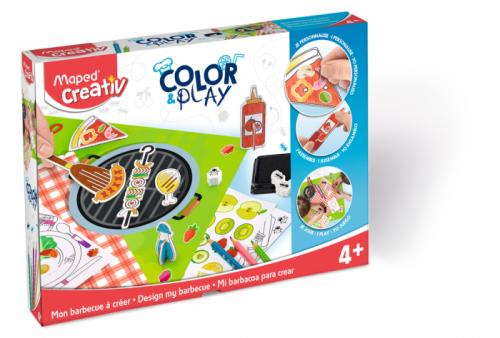 Творчески комплект Maped - Оцвети и играй - Направи си барбекю