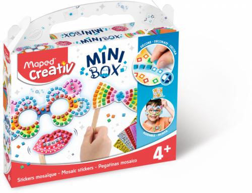 Творчески комплект Maped Mini Box - Стикери от мозайка