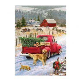 Пъзел от 1000 части Cobble Hill - Коледа във фермата