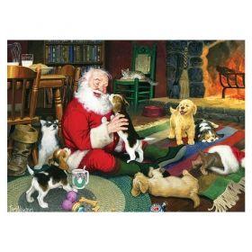 Пъзел от 1000 части Cobble Hill - Време за игра с Дядо Коледа, Том Нюсъм