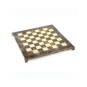 Луксозен ръчно изработен шах комплект Manopoulos, 20 х 20 см., махагон с кафяви кантове