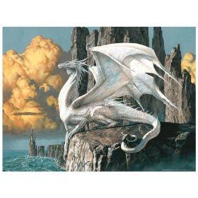 Релефен пъзел Ravensburger от 1000 части - Лебеди