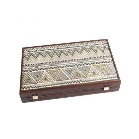 Дървена табла Manopoulos със странични отделения за пулове, голяма