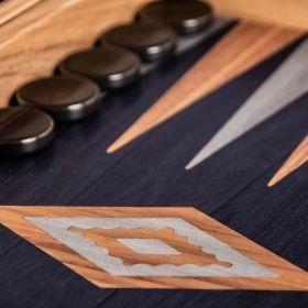 Дървена табла Manopoulos, цвят: венге, с отделения за пулове, среден размер