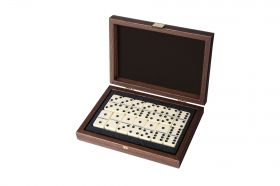 Домино Manopoulos в черна дървена кутия