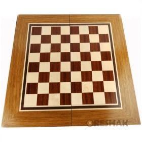 Кутия за шах и табла с естествен фурнир уникални вариации 48/48