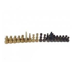 Дървени фигури за шах Стаунтон БГ с утежнения