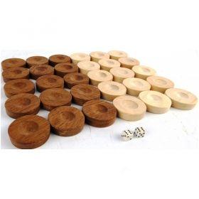 Дървени пулове за табла бук 20 мм