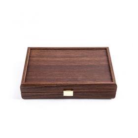 Карти за игра Manopoulos - Tъмен орех, дървена кутия