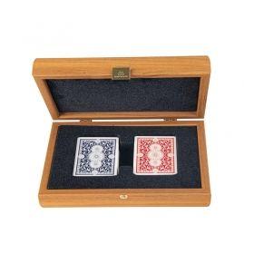 Карти за игра Manopoulos - Oрех, дървена кутия