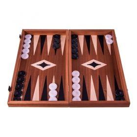 Комплект шах и табла  Manopoulos - Mахагон, 34x30 см