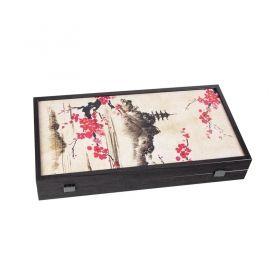 Табла за игра Manopoulos - Oriental Cherry Blossom, 48x26 см