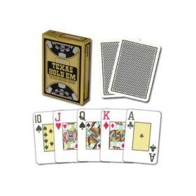 Покер карти Texas Poker 100% Plastic, оранжев гръб