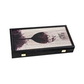 Табла за игра Manopoulos - Wine, 30x31 см
