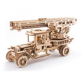 Механичен 3D пъзел Ugears - Камион – пожарна