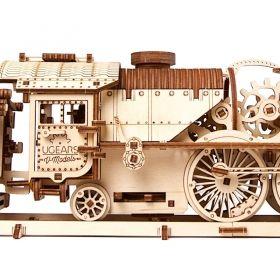 Механичен 3D пъзел Ugears - Влак с тендер v-express