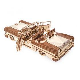 Механичен 3D пъзел Ugears - Кола кабриолет
