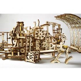 Механичен 3D пъзел Ugears - Фабрика за роботи