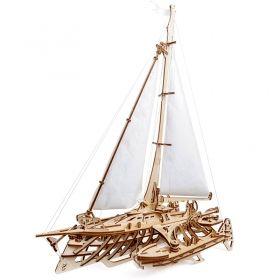 Механичен 3D пъзел Ugears - лодка – тримаран