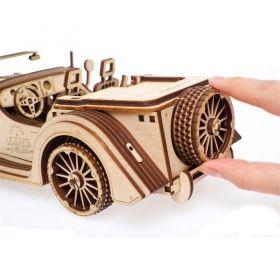 Механичен 3D пъзел Ugears - кола Roadster VM-01