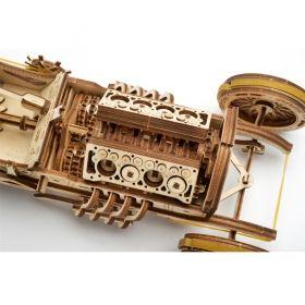 Механичен 3D пъзел Ugears - кола U-9 Grand Prix