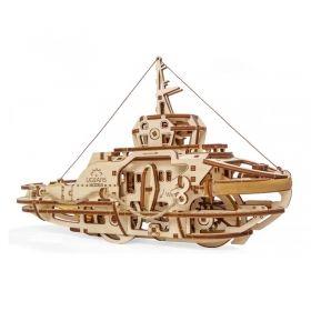 Механичен 3D пъзел Ugears - Кораб влекач