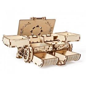 Механичен 3D пъзел Ugears - Антична кутия