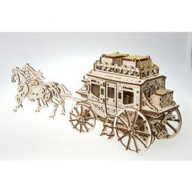Механичен 3D пъзел Ugears - Дилижанс