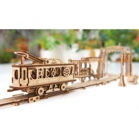 Механичен 3D пъзел Ugears - Трамвайна линия