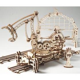 Механичен 3D пъзел Ugears - Железопътна товарачка
