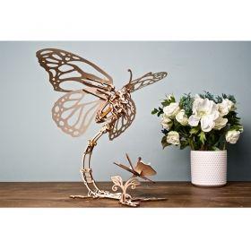 Механичен 3D пъзел Ugears - Пеперуда