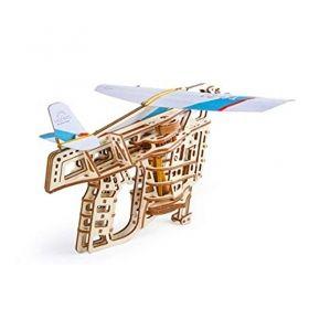 Механичен 3D пъзел Ugears - Изстрелвачка за самолет