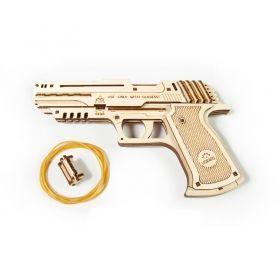 Механичен 3D пъзел Ugears - Пистолет
