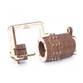 Механичен 3D пъзел Ugears - Катинар с код