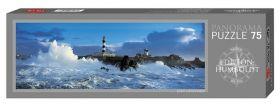 Мини пъзел Heye от 75 части - Морски фар в бурята, Александър фон Хумболт