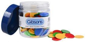 Комплект пулове за настолни игри Gibsons - 144 броя, 4 цвята