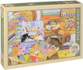 Пъзел Cobble Hill от 1000 части - Сръчни котета, Ейми Розенберг