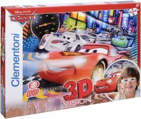 Пъзел Clementoni от 104 части с 3D ефект - Колите, с 3D очила