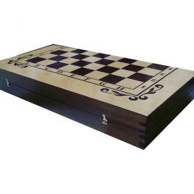 Кутия за шах и табла бук - ситопечат 48/48